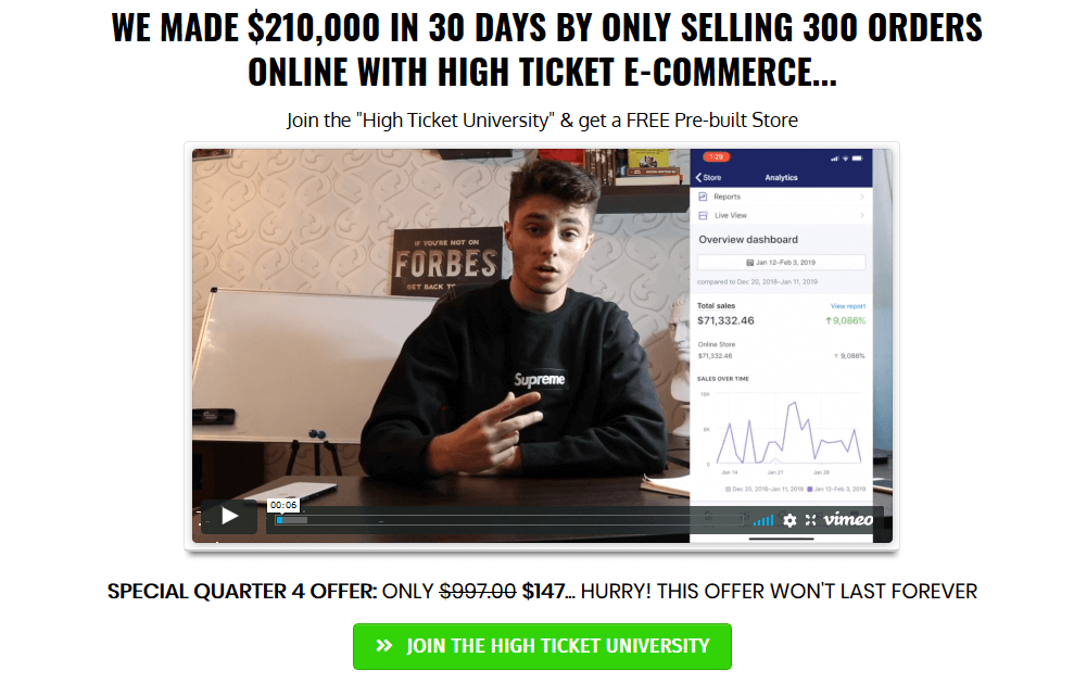 High Ticket University